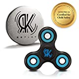 RK Play EDC 360 Fidget Hand Tri Spinner Anti-Stress Focus Figits Toy, Perfect to relieve ADHD, Anxiety & Boredom, Premium Quality Ultra Fast Ceramic Bearings (ASTM F963-16 Product Certified)