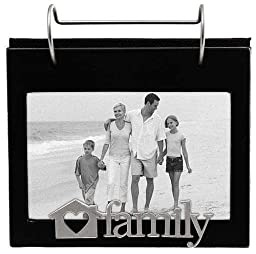 Malden Family Expressions Frame with Flip Album, 4 by 6-Inch