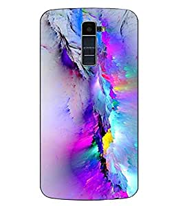 Case Cover Abstract Printed Colorful Hard Back Cover For LG K10
