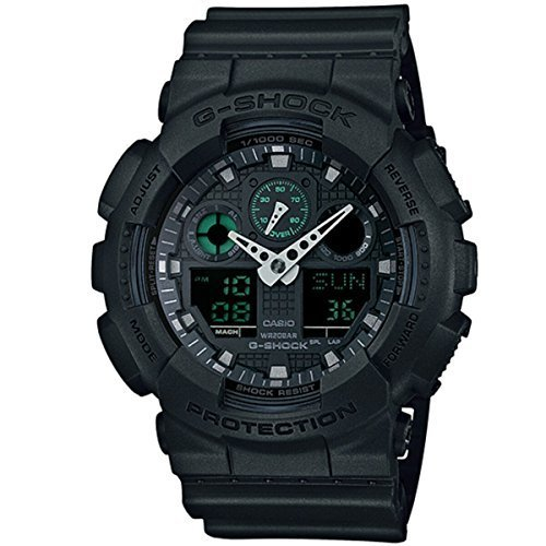 Casio G Shock GA-100MB-1AER Mission Black G-Shock Uhr Watch Montre Orologio