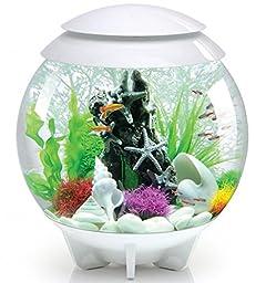 biOrb HALO 30 Aquarium with Moonlight LED Light - 8 Gallon, White