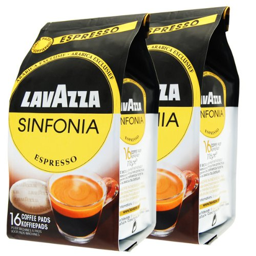 Get Lavazza Sinfonia Espresso Coffee pods for Senseo, Pack of 2, 2 x 16 Pods by Luigi Lavazza S.p.A.