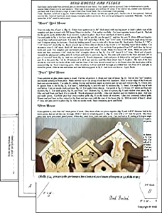 A Woodworking Patterns and Instructions to Build Your Own Bird House and Feeder Projects (Not a Kit!)