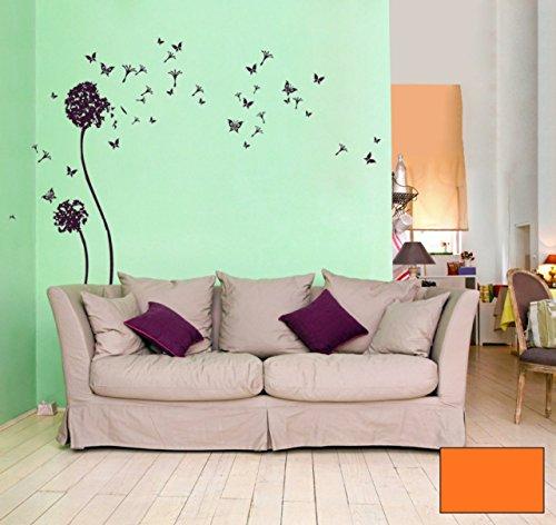 Graz-design-sticker-mural-dcoratif-motif-papillons-et-fleurs-de-pissenlit-papillons-m621-choix-de-couleur