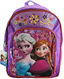 "Disney Frozen Princess Elsa & Anna 16"" Large School Backpack Bag"