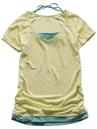 キスマーク(kissmark) レディース フィットネス 半袖Tシャツ (KM-3I405 DOT) ダークグレー L