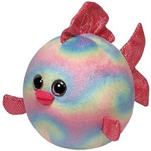 TY 7138919 Rainbow Beanie Ballz - Pez globo de peluche de