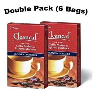Urnex Cleancaf Coffee Maker & Espresso Machine Cleaner and Descaler 2 Pack