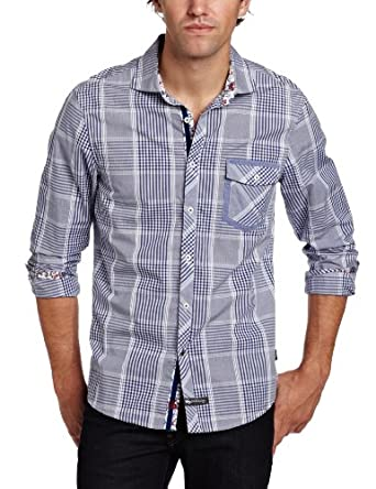 English Laundry Men's Scarborough Shirt, Blue, Medium