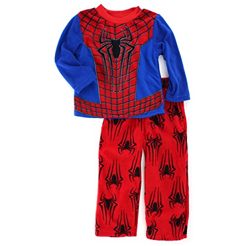 Spider-Man Boys Blue Fleece Pajamas