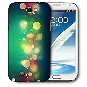 Snoogg Abstract Colorful Bubbles Printed Protective Phone Back Case Cover For Samsung Galaxy Note 2 / Note II