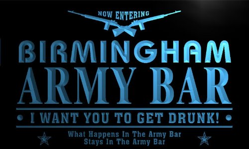 Tq2147-B Birmingham Army Bar Beer Gun I Want You...... Neon Light Sign