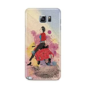 Casenation Girl On Scooter Samsung Galaxy Note 5 Matte Case