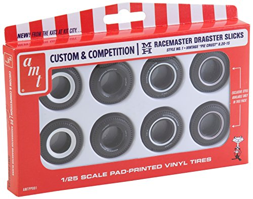 Custom Racemaster Dragster Slicks 1/25 8 Pack AMT - 1