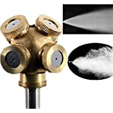 2x Hot Sell Hole Adjustable Brass Spray Misting Gardening Sprinklers Irrigation