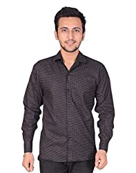 Men's Shirt Dot Print Slim Fit (X-Large)