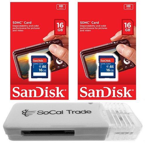 2 PACK - SanDisk 16GB SD