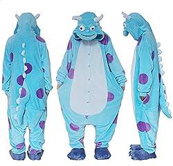 Outdoor Top Polar Fleece Unisex Dot Monster Onesie Cosplay Costume Hoodies/Pyjamas/Sleep Wear by Outdoor Top