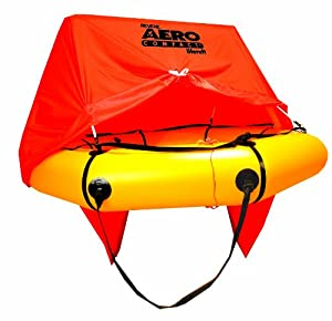 Revere 4-Person Aero Compact Liferaft with Canopy and Deluxe Kit by Revere