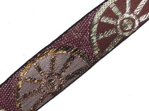 4.5 Yd Metallic Jacquard Ribbon Border Trim Sewing Lace Braft Border