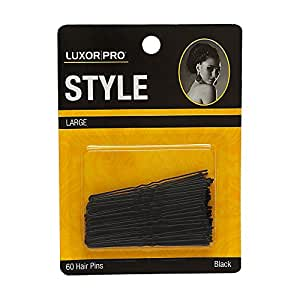 Luxor Professional Style Large Hair Pins 60 Hair Pins - Black Model No. 5157BK