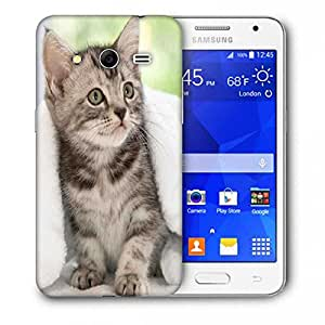 Snoogg Cute Kitty Printed Protective Phone Back Case Cover For Samsung Galaxy Core 2 / Core II G355H