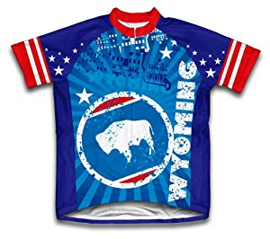Wyoming Short Sleeve Cycling Jersey for Men - Size XS