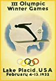 C1932 WINTER OLYMPIC GAMES at LAKE PLACID, U.S.A 250gsm ART CARD Gloss A3 Reproduction Poster