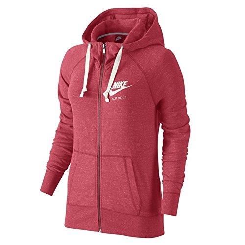 Women's Nike Sportswear Gym Vintage Hoodie Ember Glow/Sail Size Medium