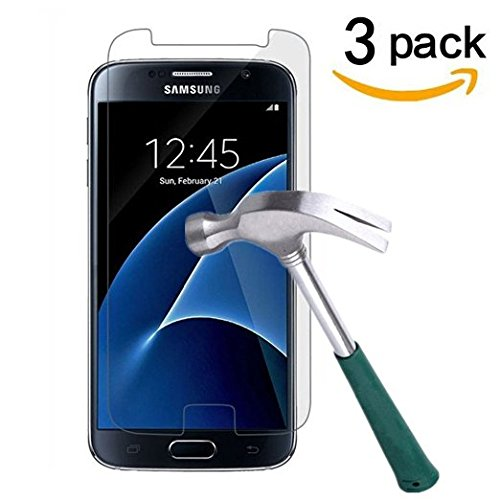 S7 Edge Tempered Glass, Leebay 0.2mm Four Sides Full Cover Protector Film, Premium 9H 3D Curved Screen Protector Film For Samsung Galaxy S7 Edge G9350 (Sliver)