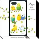Cute Budgerigars (iPhone5/5Sケース) (イシイミホ)