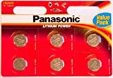 Pack Of 6 Panasonic Lithium CR2025 batteries 3V Coin Cell