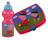 Peppa Pig Childs Pack Lunch Box with Sports Drinks Bottle