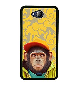 iFasho Monkey with red cap Back Case Cover for MICROMAX CANVAS PLAY Q355