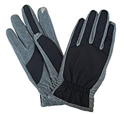 Isotoner Men's SmarTouch Matrix Gloves, X-Large, Grey