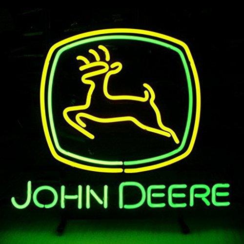 "HOT Eagle 17""x 14"" John Deere Real Glass Beer Bar Neon Light Signs for Home Shop Store Beer Bar Pub Restaurant Billiards Shops Display Signboards"