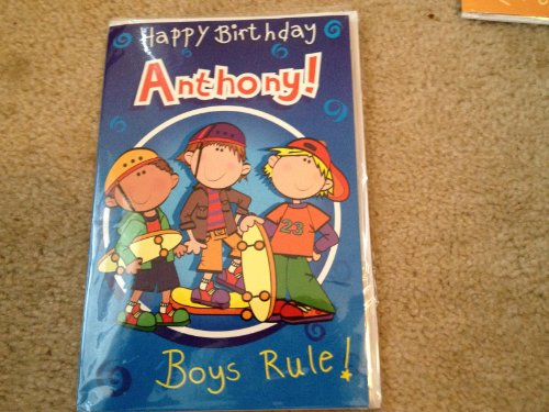 Happy Birthday Anthony - Singing Birthday Card