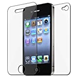 GTMax Clear Front & Back Body Protector Shield Guard with Cleaning Cloth for Apple iPhone 4 4G 16GB / 32GB 4th Generation ~ GTMax