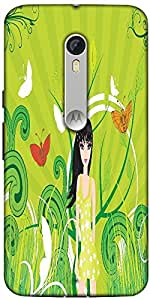 Snoogg Abstract Illustration Designer Protective Back Case Cover For Motorola Moto X Style