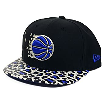 Orlando Magic New Era Ostrich Visor Leopard Print Strapback Hat by New Era