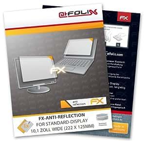 atFoliX Lámina protectora de pantalla FX-Antireflex para Pantalla estándar 10,1 pulgada wide (222 x 125mm) - ¡Protección antirreflejos para la pantalla!