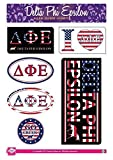 Delta Phi Epsilon Sticker Sheet - American Theme. 8.5