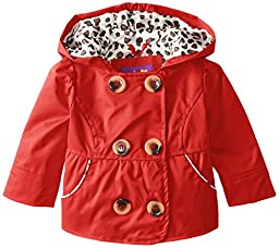 Pink Platinum Baby-Girls Newborn Double Breasted Trench, Red, 3-6 Months