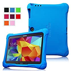 Fintie Samsung Galaxy Tab 3 10.1 and Galaxy Tab 4 10.1 Kiddie Case - Ultra Light Weight Shock Proof Kids Friendly Cover, Blue