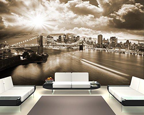"Bilderdepot24 Fotomurale autoadesivo ""New York V - sephia"" 155x100 cm - direttamente dal produttore"
