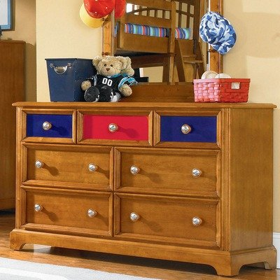 Cheap Pulaski Pulaski Build-A-Bear Bearrific Kids Double Dresser in Cocoa (B004YN8IDU)