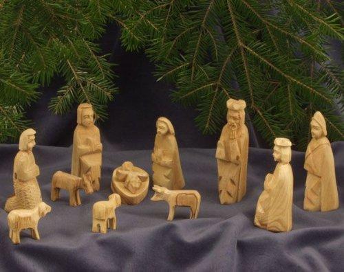 Presepi Di Legno Betlemme : Test test doang presepio per bambini semplici statuette per