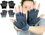 Mato & Hash Yoga Pilates Fingerless Exercise Grip Gloves