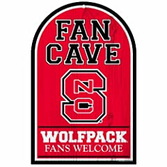 Buy NCAA North Carolina State Wolfpack 11-by-17 Wood Sign Traditional Look by WinCraft