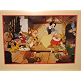 "Walt Disney 1994 "" Snow White And The Seven Dwarfs "" Exclusive Commemorative Lithograph - 8 1/2 "" x 12 1/2 "" Print"